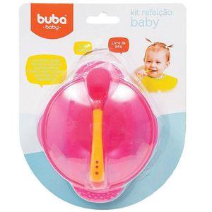 Kit Refeição Baby com Colher 5230 Rosa - Buba