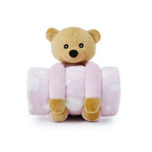 Cobertor E Pelúcia Teddy Bear Rosa - Loani