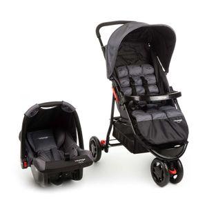 Carrinho De Bebê Delta TS 0-15kg Cinza Grid- Voyage