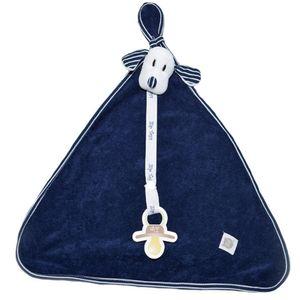 Naninha Blanket Atoalhada Listrado Azul Marinho - Zip